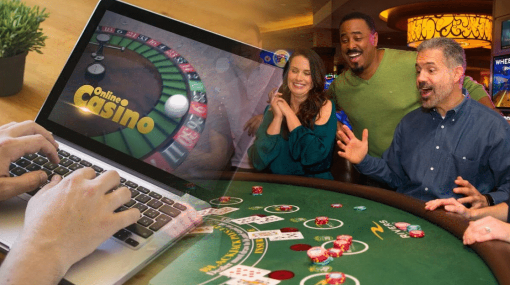 online casino and land casino